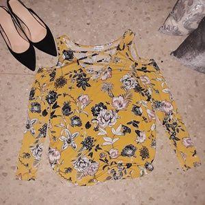 Mustard Love fire blouse